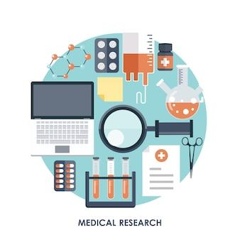 Laboratório e pesquisa em medicina