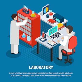 Laboratório médico isométrico