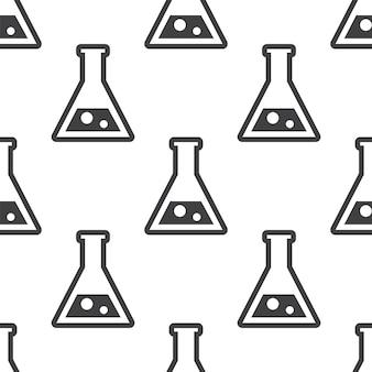Laboratório, padrão sem emenda de vetor, editável pode ser usado para planos de fundo de página da web, preenchimentos de padrão