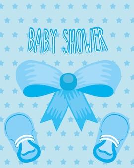 Laço azul sapatos pequenos