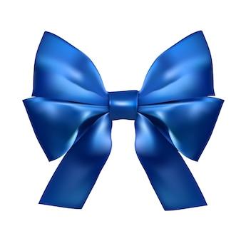Laço de seda azul realista
