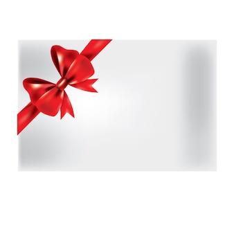 Laço de seda de fita de presente. gravata borboleta vermelha isolada