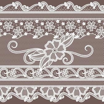 Laço de tecido com decoração de flores. padrão sem emenda de moda em estilo barroco.