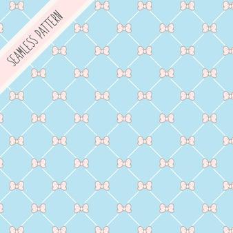 Laço kawaii rosa fofo arcos padrão sem emenda