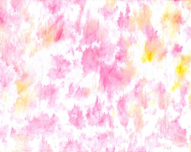 Laço rosa pastel corante fundo aquarela