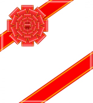 Laço vermelho com fitas
