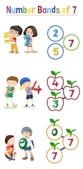 Laços de número de matemática de 7