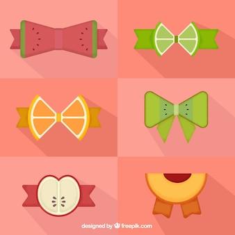 Laços feitos de frutas