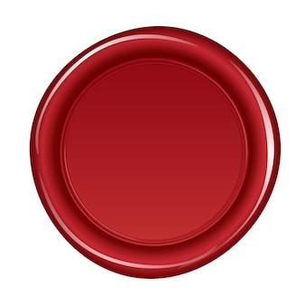 Lacre de cera vermelho