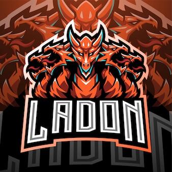 Ladon esport mascote logotipo design