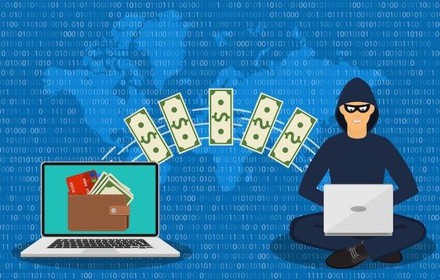 Ladrão cibernético, golpista da internet.