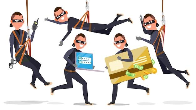 Ladrão, homem hacker