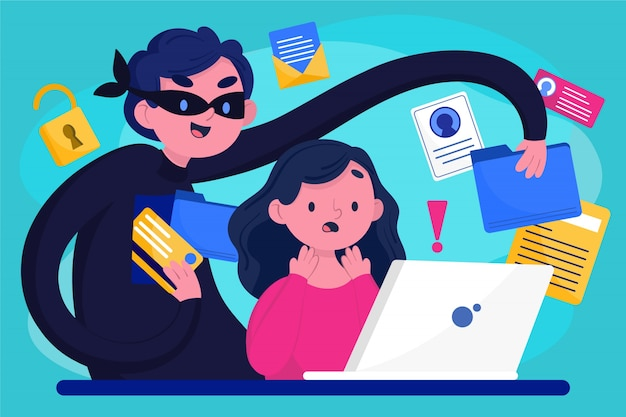 Ladrão roubando dados de usuários