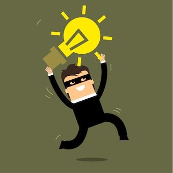 Ladrão roubando idéia