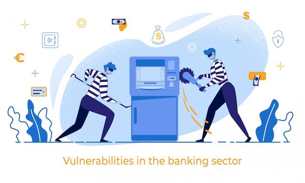 Ladrões de desenhos animados danificam vulnerabilidades de caixas eletrônicos no banco