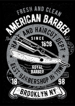 Lâmina de barbear, pôster de ilustração vintage.