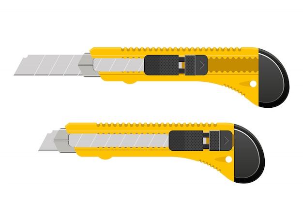 Lâmina de cortador amarelo design ilustração isoalted em fundo branco