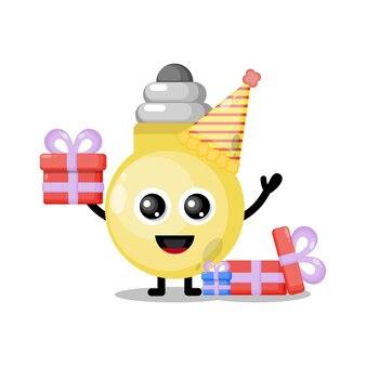 Lâmpada de aniversário mascote fofa