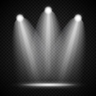 Lâmpada de iluminação de projetores brilhantes realistas com efeitos de iluminação de holofotes