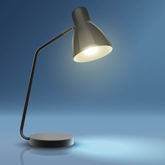 Lâmpada de mesa de trabalho com luz.