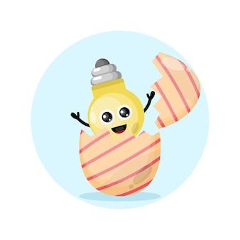 Lâmpada de ovo de páscoa mascote fofa