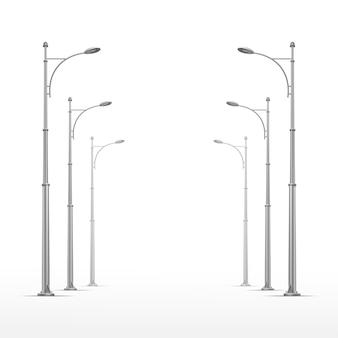 Lâmpada de rua no fundo branco