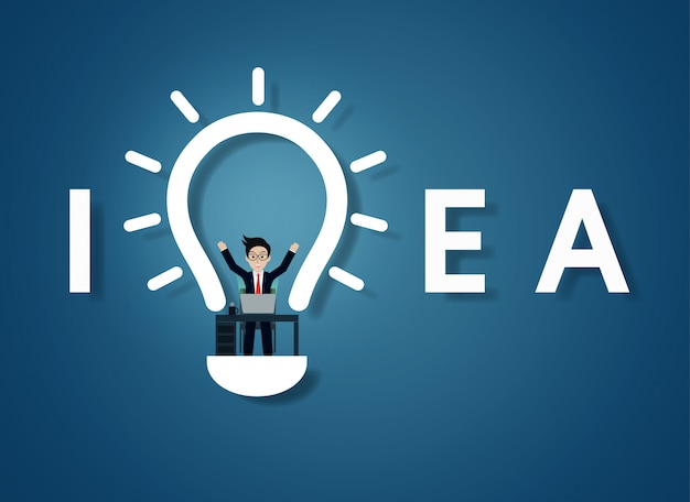 Lâmpada de texto criativa idéia
