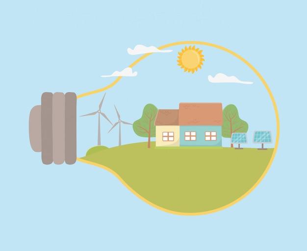 Lâmpada e economizar energia