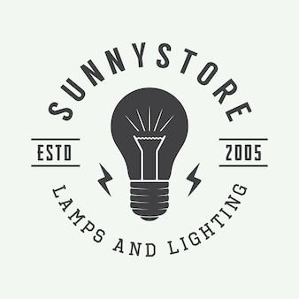 Lâmpada e iluminação logo