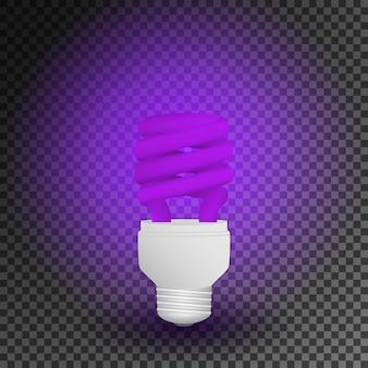 Lâmpada econômica ultravioleta fluorescente lâmpada incandescente.