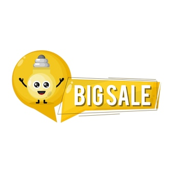 Lâmpada grande venda mascote personagem fofa