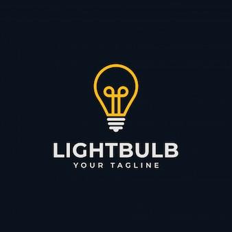 Lâmpada, idéia, criativa, inovação, energia logo design