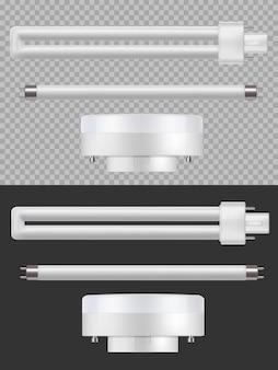 Lâmpadas fluorescentes, tubos longos 3d.