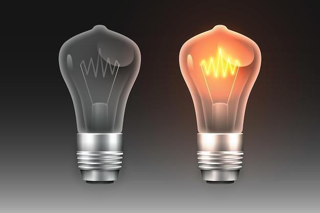 Lâmpadas gradientes com eletricidade