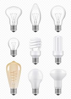 Lâmpadas. lâmpadas de inovação econômica de halogênio transparente imagens realistas