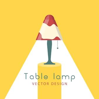Lâmpadas luzes acesas. candelabro de móveis, abajur e mesa