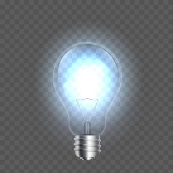 Lâmpadas no fundo, lâmpada led.