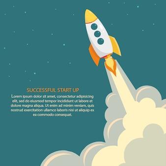 Lançamento de foguete espacial.
