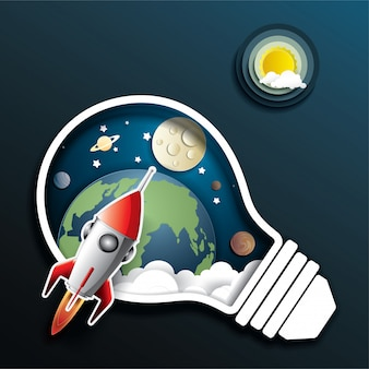 Lançamento do foguete espacial
