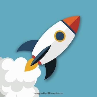 Lançamento do foguete startup