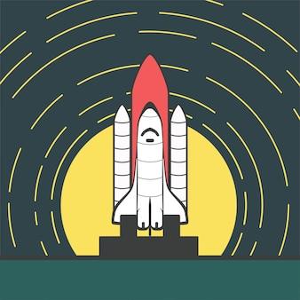 Lançamento do foguete vector
