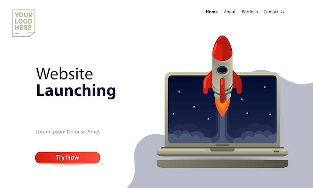 Lançamento do website do modelo de página de destino