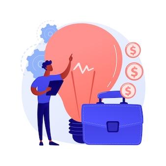 Lançando projeto de inicialização. ideias inovadoras, empresário criativo, empresa lucrativa. gerente de topo, empresário de sucesso que oferece plano de negócios.
