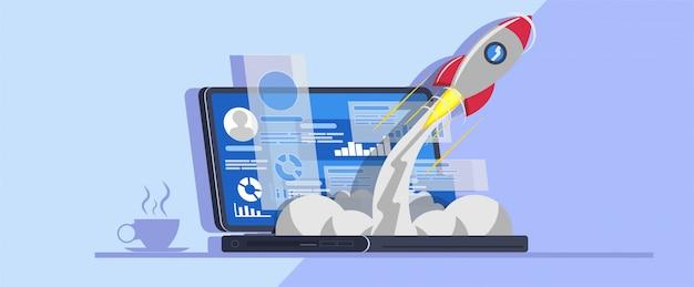 Lançar novo projeto de inicialização do laptop
