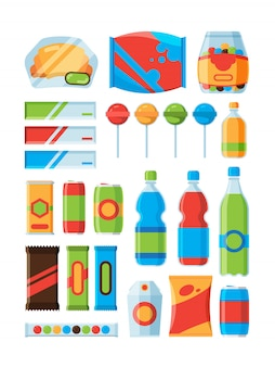 Lanche de fast-food. refrigerante bebe chips nozes barras de chocolate fornecedor máquina produtos fotos