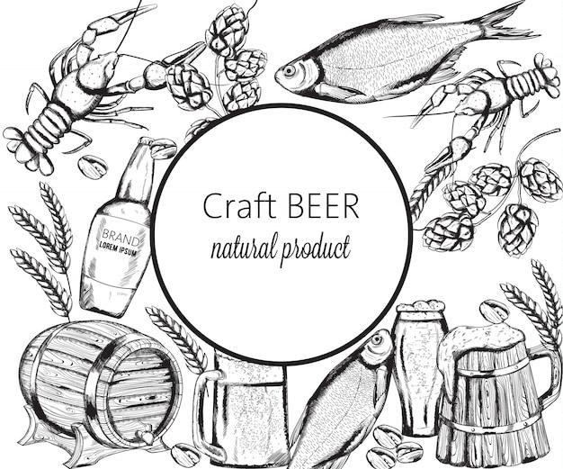 Lanches de cerveja com peixe, lagosta, alcachofra e pistache