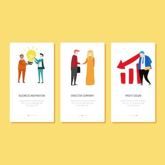 Landing page design - inspiração, empresa e lucro