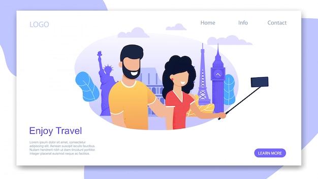 Landing page motivating para desfrutar de viagens e férias de verão