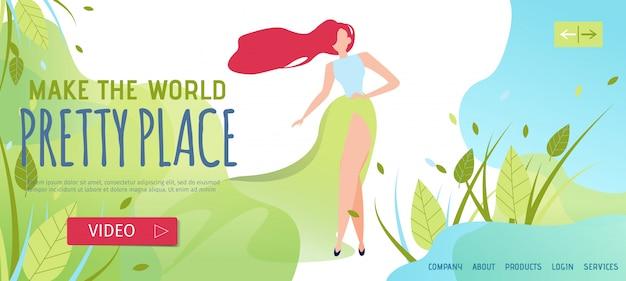 Landing page para mulher convidando melhore-se com produtos orgânicos