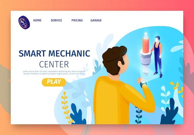 Landing page para o moderno e inteligente centro mecânico